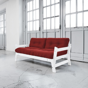 Sofa rozkładana Karup Step White/Passion Red