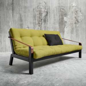 Sofa rozkładana Karup Poetry Black/Avocado Green/Dark Grey
