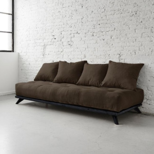 Sofa Senza Black/Choco Brown