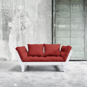 Sofa rozkładana Beat White/Passion Red