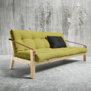 Sofa rozkładana Karup Poetry Natural/Avocado Green/Dark Grey