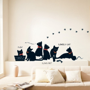 Zestaw naklejek Ambiance Cats with Bowties