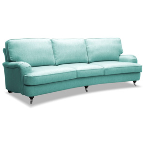 Jasnoturkusowa sofa 3-osobowa Vivonita William