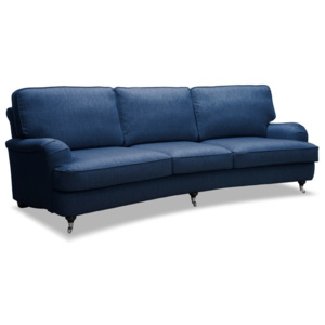 Niebieska sofa 3-osobowa Vivonita William