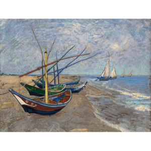 Reprodukcja obrazu Vincenta van Gogha - Fishing Boats on the Beach at Les Saintes-Maries-de la Mer, 40x30 cm