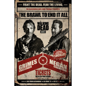 Plakat, Obraz The Walking Dead - Fight, (61 x 91,5 cm)