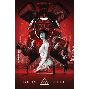 Plakat, Obraz Ghost In The Shell - Red, (61 x 91,5 cm)