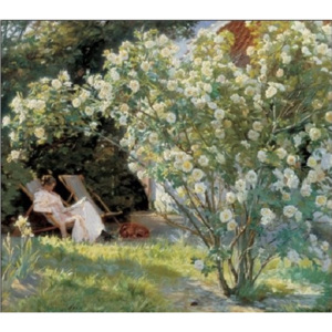 Reprodukcja Marie in the Garden The Roses, Peder Severin Kroyer, (35 x 100 cm)