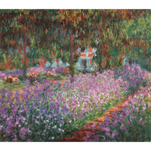 Reprodukcja The Artist's Garden at Giverny 1900, Claude Monet, (80 x 60 cm)