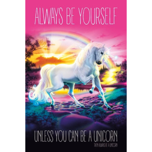 Plakat, Obraz Unicorn - Always Be Yourself, (61 x 91,5 cm)