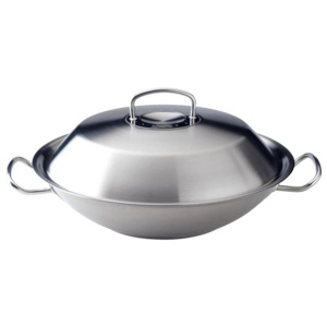 Wok z pokrywą stalową Pro Collection 30 cm