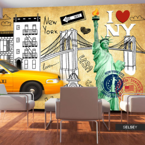 Fototapeta - One way - New York 400x280 cm