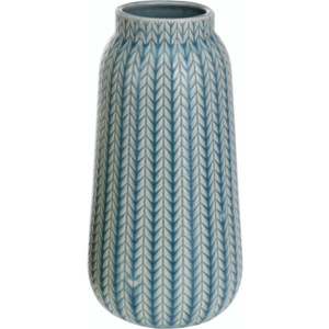 Wazon porcelanowy Knit turkusowy, 24,5 cm