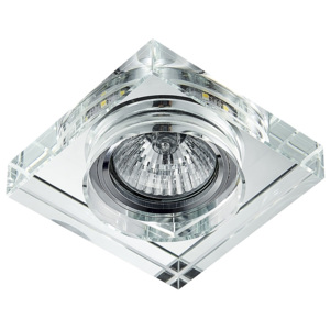 Emithor LED Oprawa wpuszczana ELEGANT DOUBLE LIGHT 1xGU10/50W+LED/3W 71105