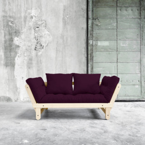 Sofa rozkładana Karup Beat Natural/Purple Plum