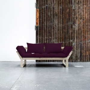 Sofa rozkładana Karup Edge Natural/Purple Plum