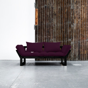 Sofa rozkładana Karup Edge Black/Purple Plum