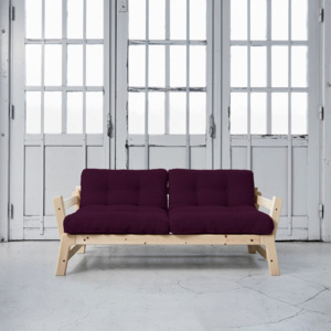 Sofa rozkładana Karup Step Natural/Purple Plum