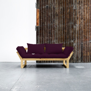 Sofa rozkładana Karup Edge Honey/Purple Plum