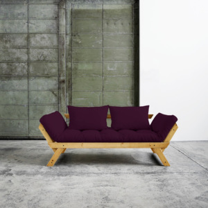 Sofa rozkładana Karup Bebop Honey/Purple Plum