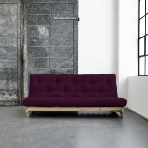 Sofa rozkładana Karup Fresh Raw/Purple Plum
