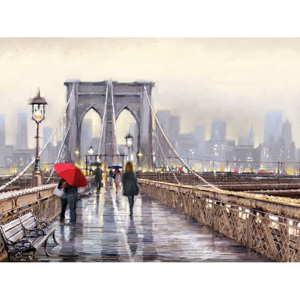 Richard Macneil - Brooklyn Bridge Obraz na płótnie, (80 x 60 cm)