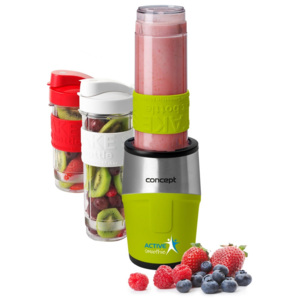 Concept SM3387 Smoothie maker Active smoothie 500 W, 2 butelki 570 ml + 400 ml, zielony