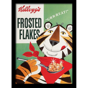 Oprawiony Obraz Vintage Kelloggs - Frosted Flakes