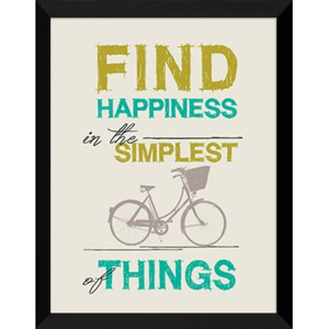 Plakat FIND HAPPINESS SIMPLEST THINGS w ramie 44x54 cm