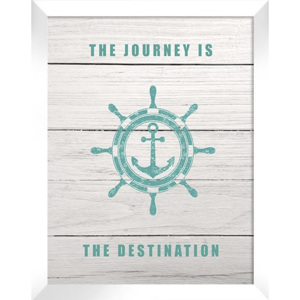 Plakat THE JOURNEY IS THE DESTINATION 44x54 cm