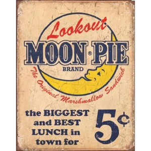 Metalowa tabliczka Moon Pie - Best lunch, (31,5 x 40 cm)