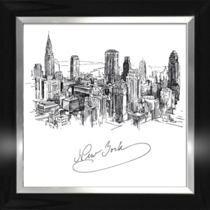 Plakat NEW YORK SKETCH w ramie 64,8x64,8 cm