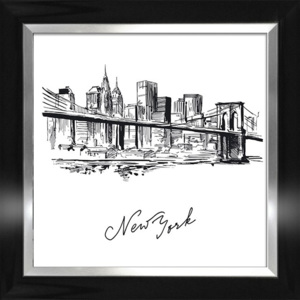 Plakat NEW YORK SKETCH I w ramie 64,8x64,8 cm