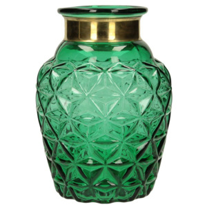 Wazon Glass Elegance green 19cm