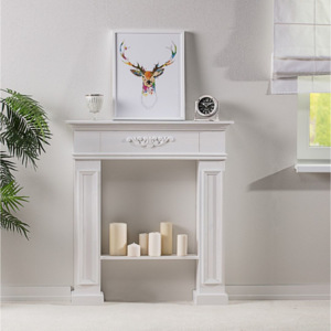 Kominek Decor White 96x22x107
