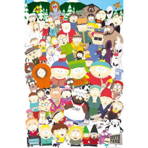 Plakat, Obraz South Park - cast, (61 x 91,5 cm)