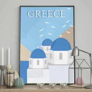 DecoKing - Plakat ścienny - Greece 40x50 cm