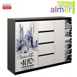 Komoda NEW YORK C4 140x40 w.104
