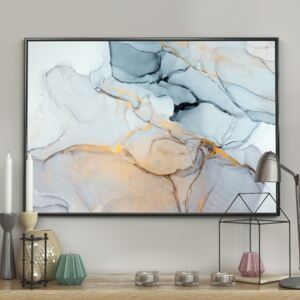 DecoKing – Plakat ścienny – Marble - Blue - Home 40x50 cm