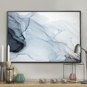 DecoKing – Plakat ścienny - Marble - Dark Blue 40x50 cm