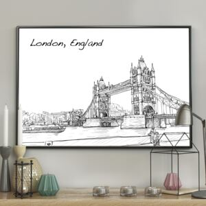 DecoKing - Plakat ścienny - London Bridge 40x50 cm