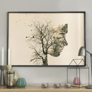 DecoKing - Plakat ścienny - Girl Silhouette -Tree 40x50 cm