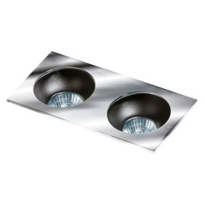 HUGO 2 DOWNLIGHT CHROME : Odbłyśnik - Black Wpustowe (oczka) Chrom GU10 LED