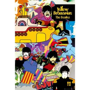 Plakat, Obraz the Beatles - yellow submarine, (61 x 91,5 cm)