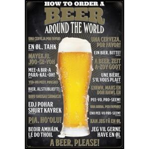 Plakat, Obraz How To Order A Beer, (61 x 91,5 cm)