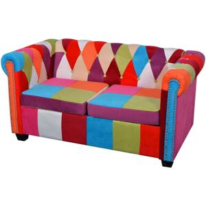 Sofa patchwork chesterfield Triss - dwuosobowa
