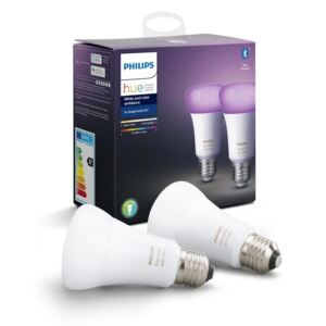 Philips ZESTAW 2x LED Żarówka ściemnialna Philips HUE WHITE AND COLOR AMBIANCE E27/9W/230V 2000-6500K P3096