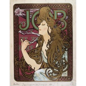 Mucha, Alphonse Marie - Reprodukcja Advertising poster for Job Cigarette Paper by Mucha 1898