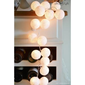 PURE WHITE 35 kul LED Cotton Ball Lights PREMIUM