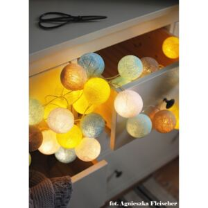 SUNNY TURQOUISE 10 kul LED Cotton Ball Lights PREMIUM